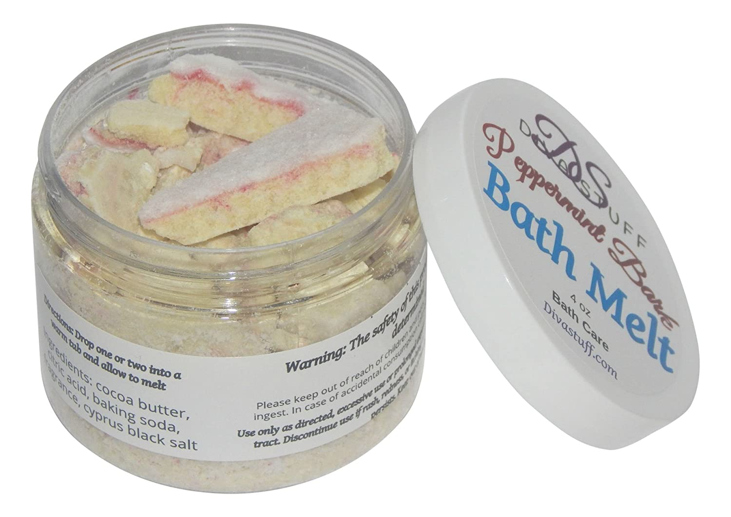Peppermint Bark Bath Melts, Skin Softening and Great Smelling, By Diva Stuff