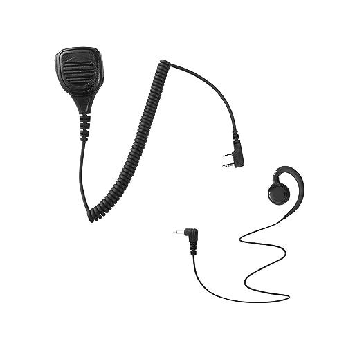 Maxtop APM250ARP3000-K2 Heavy Duty Shoulder Speaker Microphone for Kenwood with Swivel Shape Receiving Only Earpiece