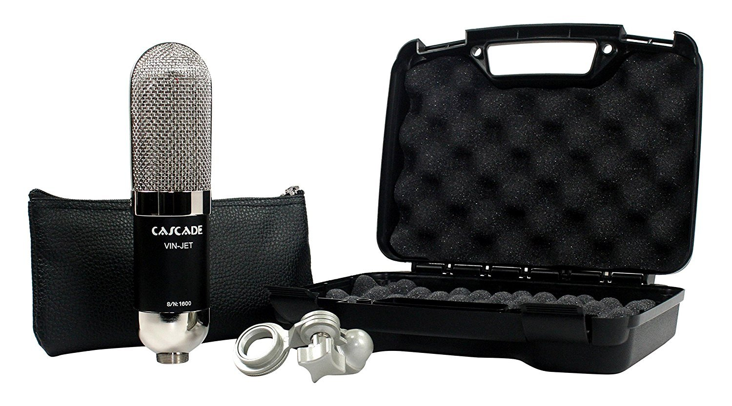 Cascade Microphones VIN-Jet (Lundahl) -Black Body/Polished Nickel Grill by Cascade Microphones