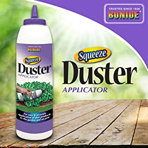 Bonide (BND053) - Squeeze Duster Applicator, Reusable Powder Hand Duster for Insecticide/Pesticide Dust (10 oz.)