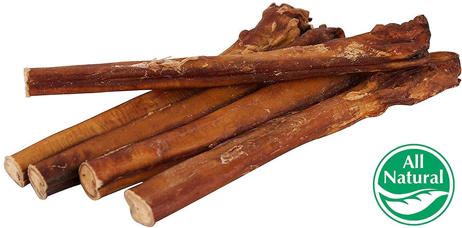 12'' Straight Bully Sticks for Dogs [X-Large Thickness] (50 Pack) - All Natural & Odorless Bully Bones | Long Lasting Chew Dental Treats | Best Thick Bullie Sticks for K9 or Puppies | Grass-Fed Beef