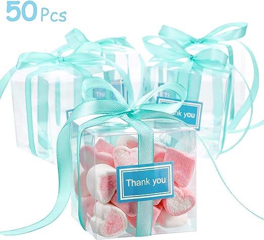 50 Cajas Transparentes de PVC, Caja de Tratamiento de Caramelo ...