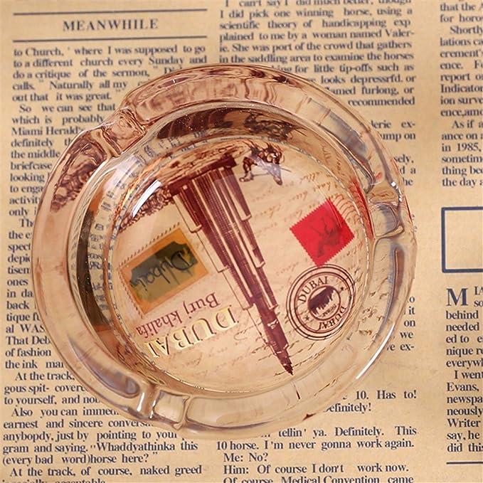 Amazon.com: LOSTRYY Arroz británico bandera adornos cenicero de vidrio cristal, D 3.5 8.4 CM: Home & Kitchen