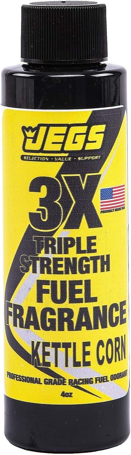 JEGS 63677 Fuel Fragrance Kettle Corn Scented 4 oz. Bottle Safe for All Internal