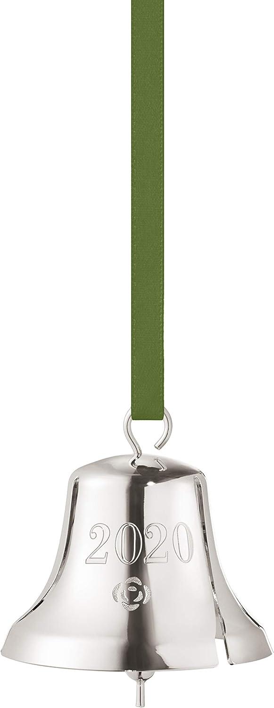 Georg Jensen 2020 Annual Palladium Christmas Bell Ornament