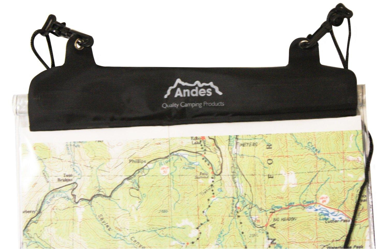 Camping & Outdoor Kartenschutzhülle Kartentasche Dry Bag Wandern wasserfest transparent