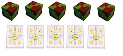 Virgo Toys I Qube Puzzle & Brain Lock (Combo) - Pack of 5