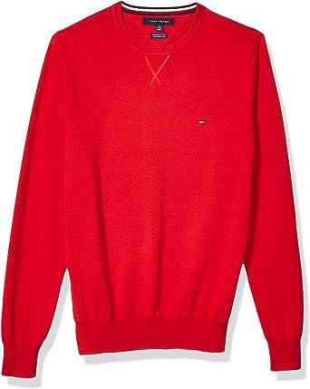 Red, S Premium Cotton Crew Neck Sweatshirt