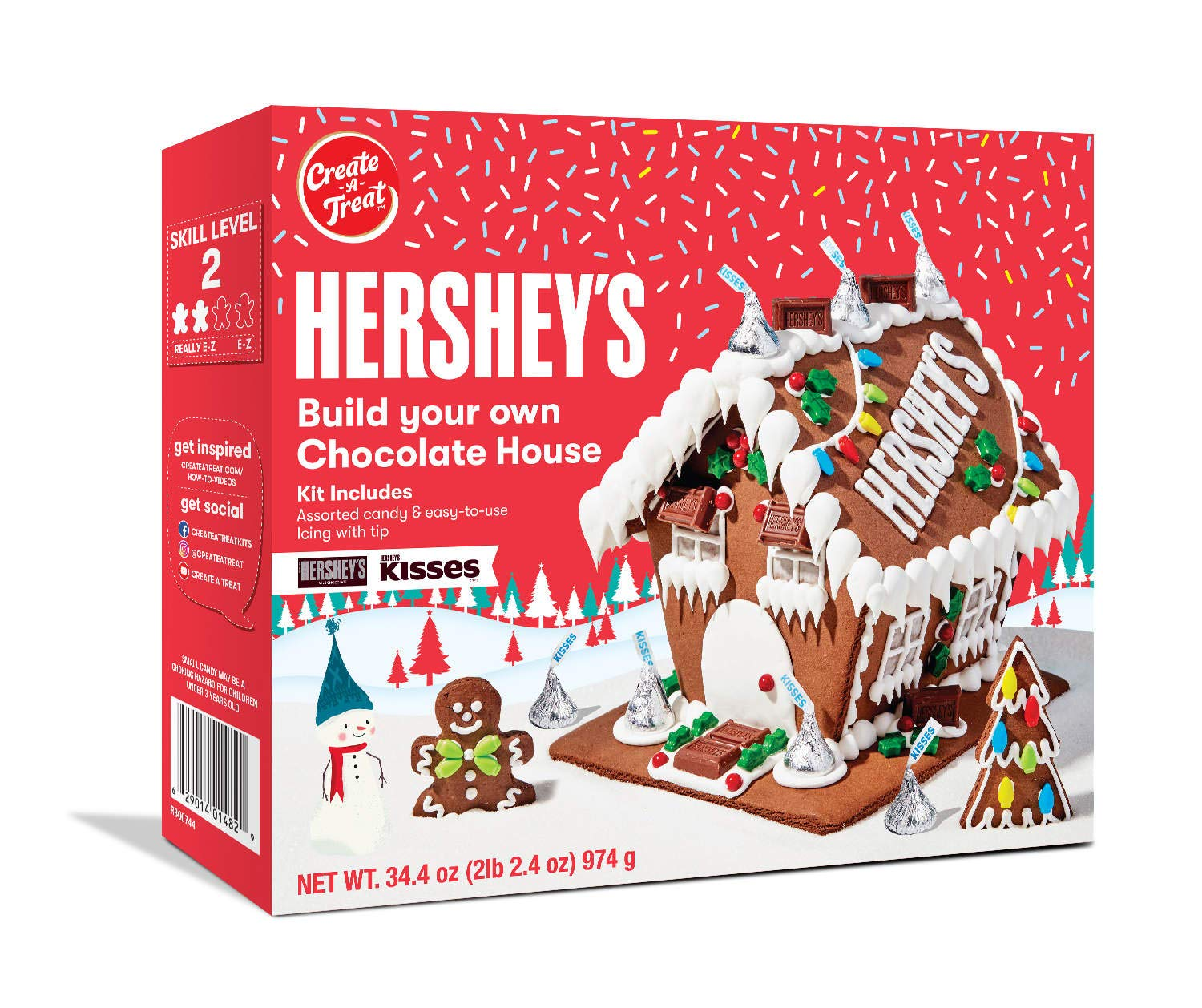 Hershey's Build Your Own Chocolate Holiday Gingerbread House Kit - 34.4 oz