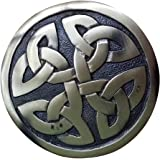 "AAR Men,s Scottish Celtic design Kilt Brooch Fly Plaid Antique Finish 2.70"" diameter"