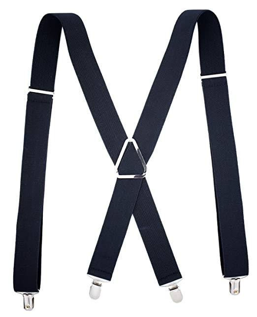Image Unavailable. Image not available for. Color  MENDENG Men s X Back  Clip Suspenders Adjustable Elastic Shoulder Strap 1.5 quot  Wide 624261147