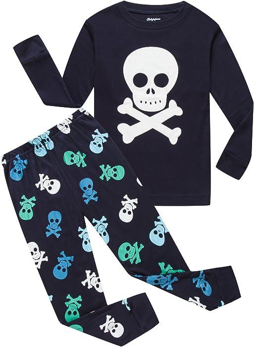 1276ba6ef1 Dolphin Fish Boys Pajamas Skeleton Cotton Toddler Pjs Kids Sleepwear  Christmas Clothes size5t