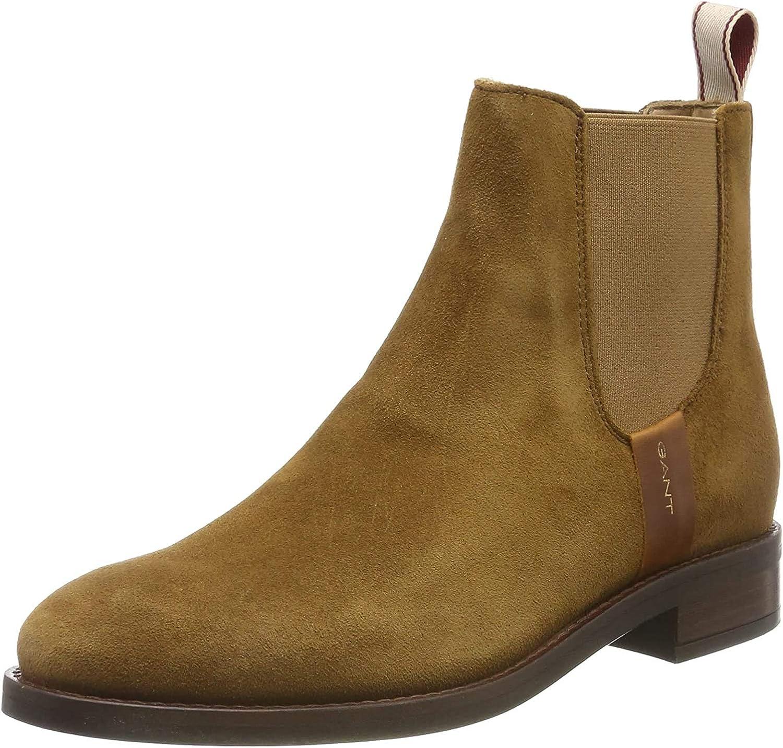 GANT Damen Fay Chelsea Boots Braun Cognac G45