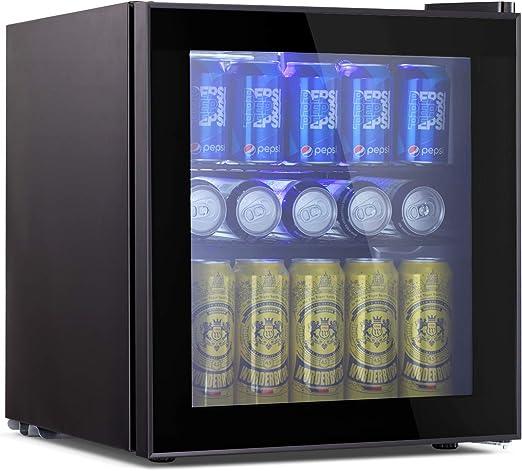 Refrigerator Mini Beer Beverage Fridge Glass Door Black /& 62 Can Beverage Cooler