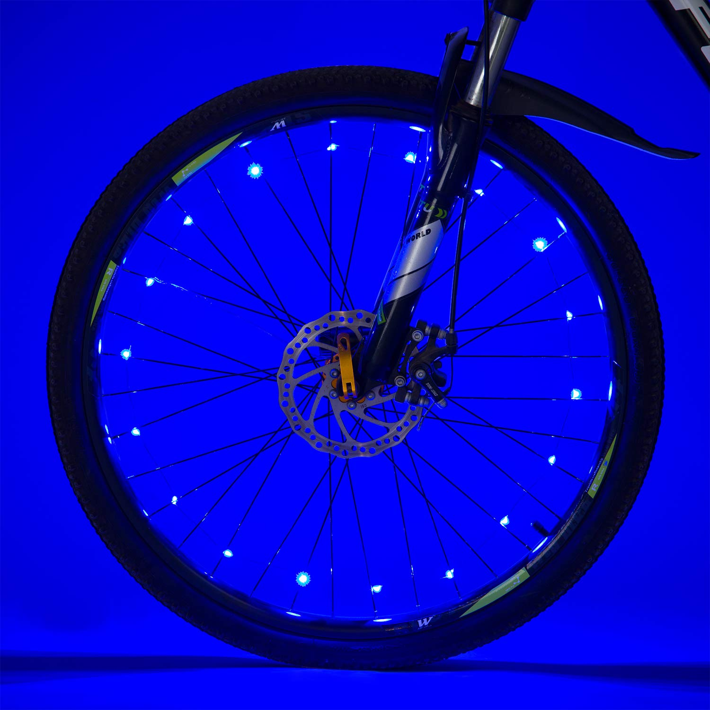 2Pcs LED Bike Wheel Lights with Battery Pre-installed Bicycle Wheel Spoke