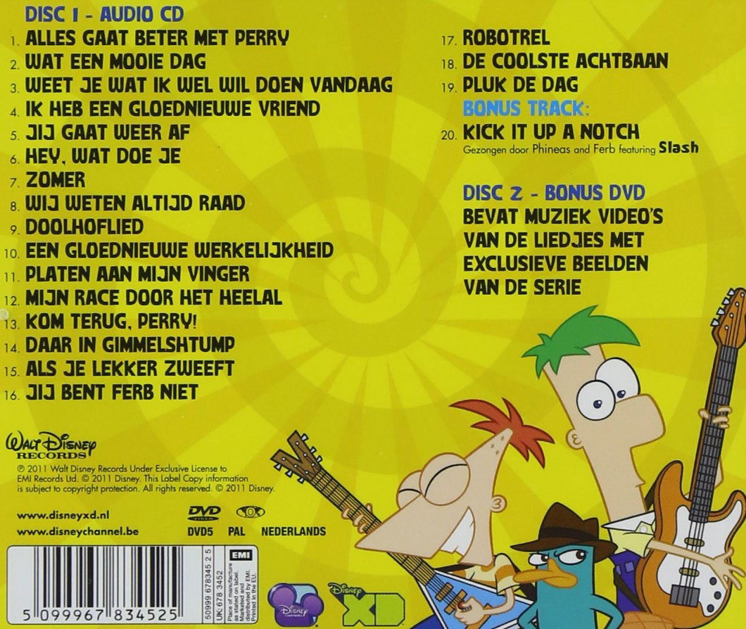 Phineas Ferb Dvd Amazon Com Music