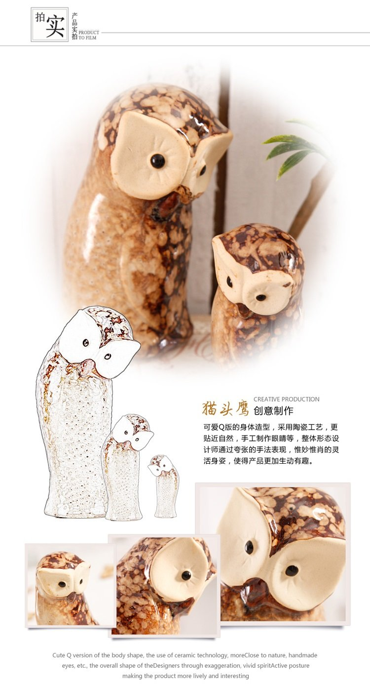 Pastoral cute animal ceramic desktop ornaments home living room porch window display ZCL12061733