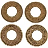 Genuine Coins Gallery Indian British India Hole Set