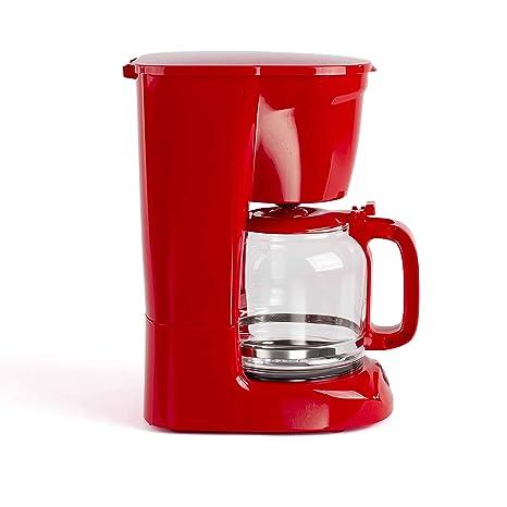 LIVOO DOD166R - Cafetera eléctrica (15 tazas), color rojo ...