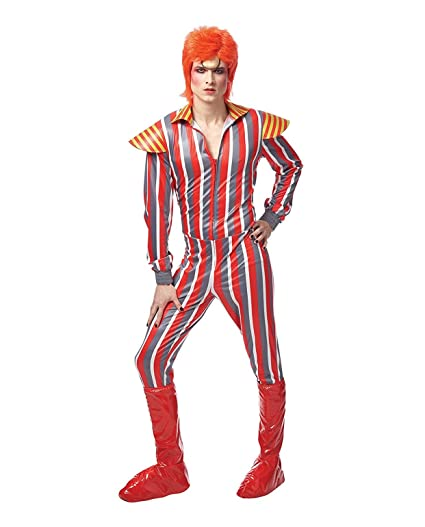 David Bowie Glam Rocker Adult Costume Standard