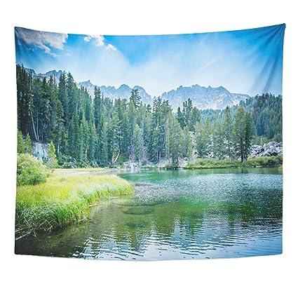 amazon com breezat tapestry california emerald lake in the mammoth