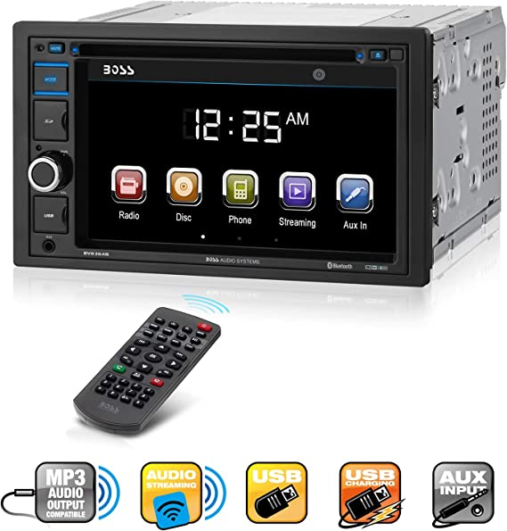 Amazon.com: Boss Audio Systems BV9364B Car Stereo DVD Player - Double Din,  Bluetooth Audio/Hands-Free Calling, 6.2 Inch Touchscreen LCD Monitor, MP3  Player, CD, DVD, USB Port, SD, AUX Input, AM/FM Radio Receiver:Amazon.com
