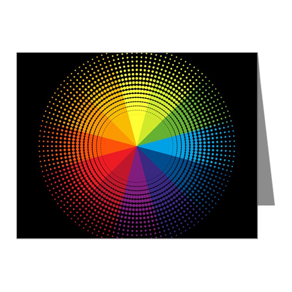 Note Cards (10 Pack) Artist Rainbow Color Wheel by Royal Lion (Image #1)