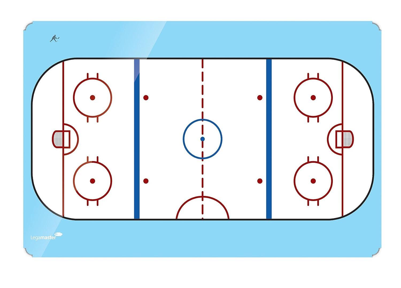 Legamaster 7-104154 Accents Whiteboard 120 x 90 cm Sportboard bedruckt mit Eishockeyfeld lackierter Stahl