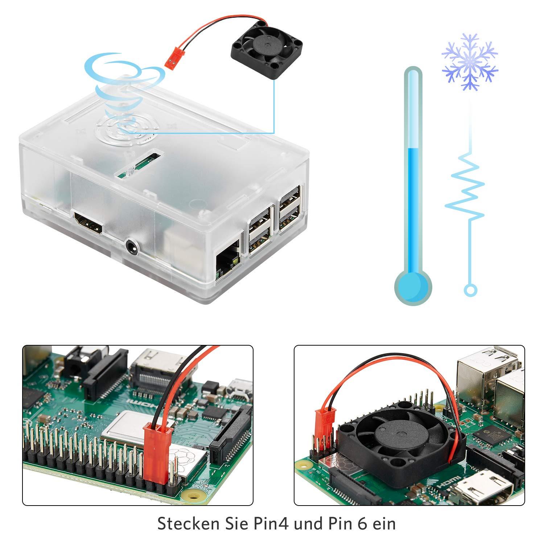 B Plus Vemico Raspberry Pi 3 Modell B+ Basis Starterkit mit 32GB SD Karte L/üfter Geh/äuse K/ühlk/örper CAT6 Netzwerkkabel Schraubendreher Netzteil und Cardreader