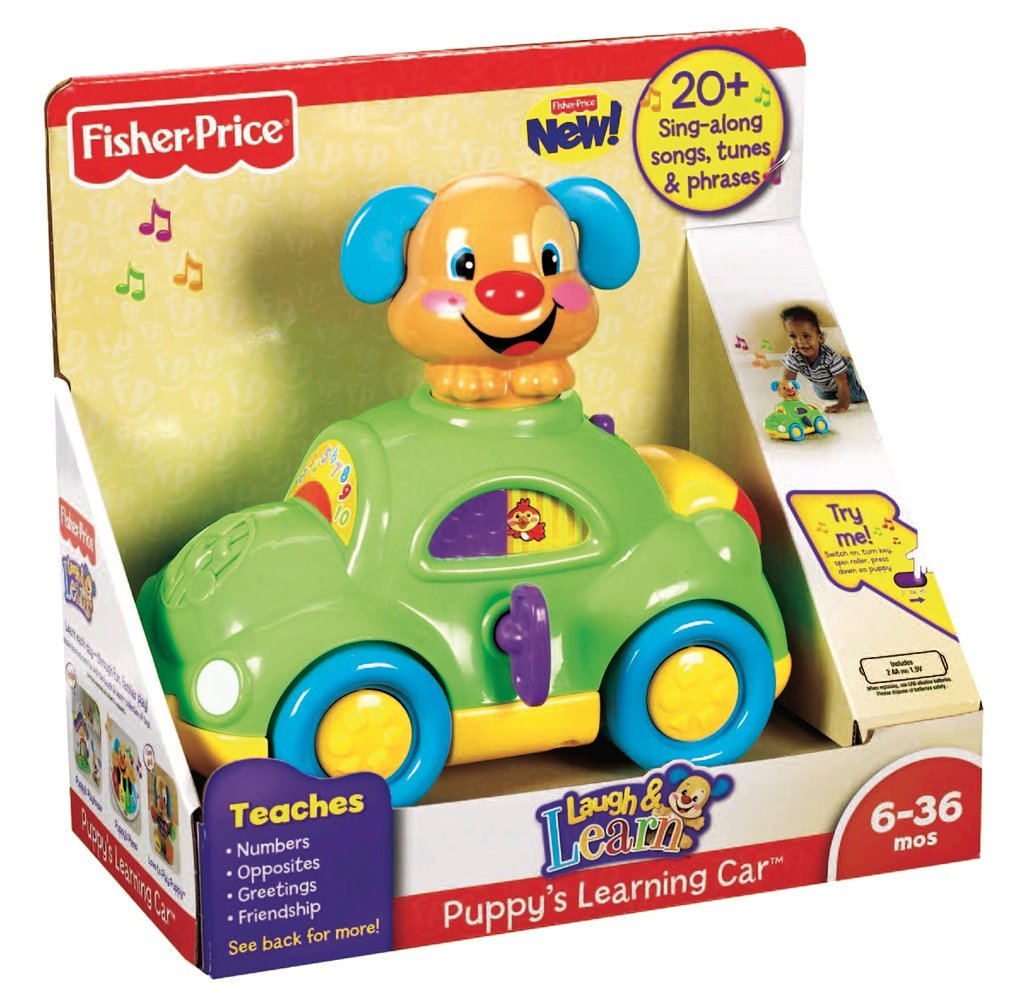 Amazon.com: Fisher-Price Mattel Learning Puppy Car 21-2146 X ...