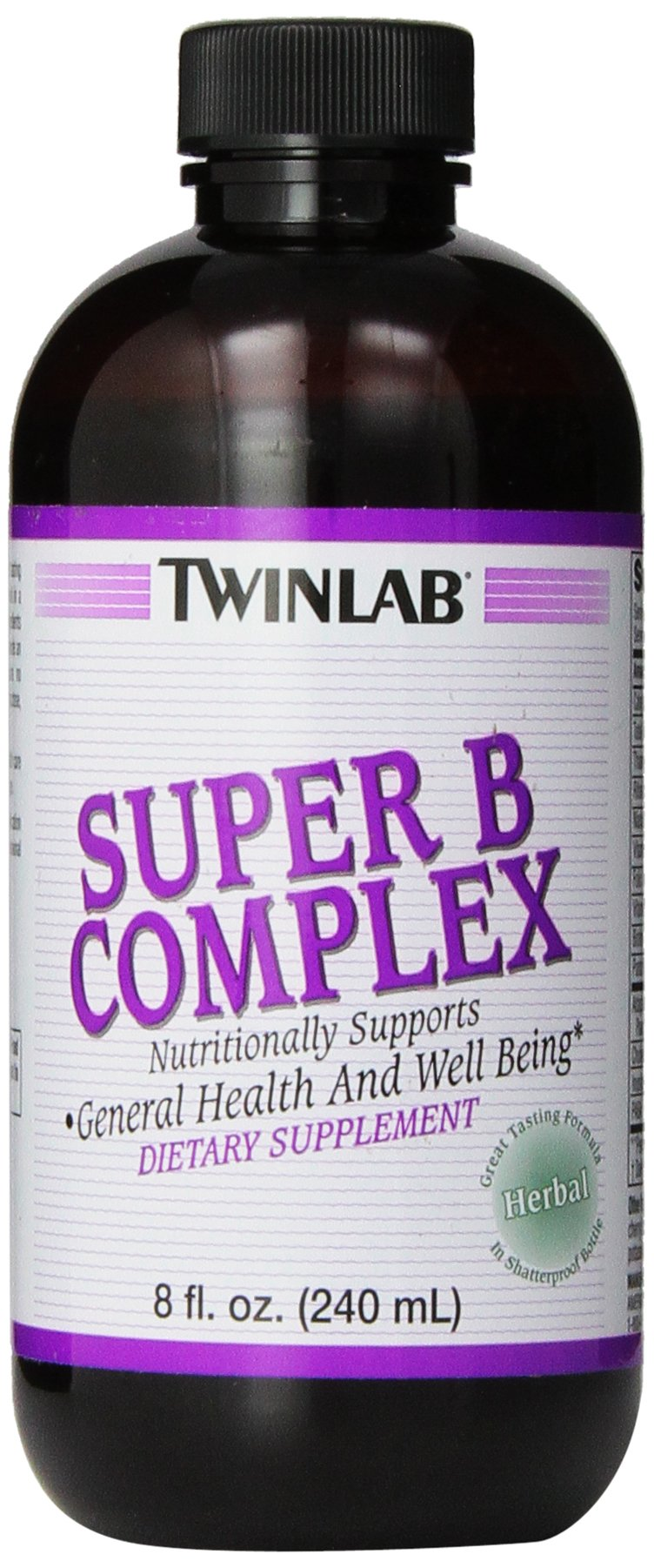 Twinlab Super B-Complex, Herbal, 8 Ounce (240 ml) (Pack of 2)
