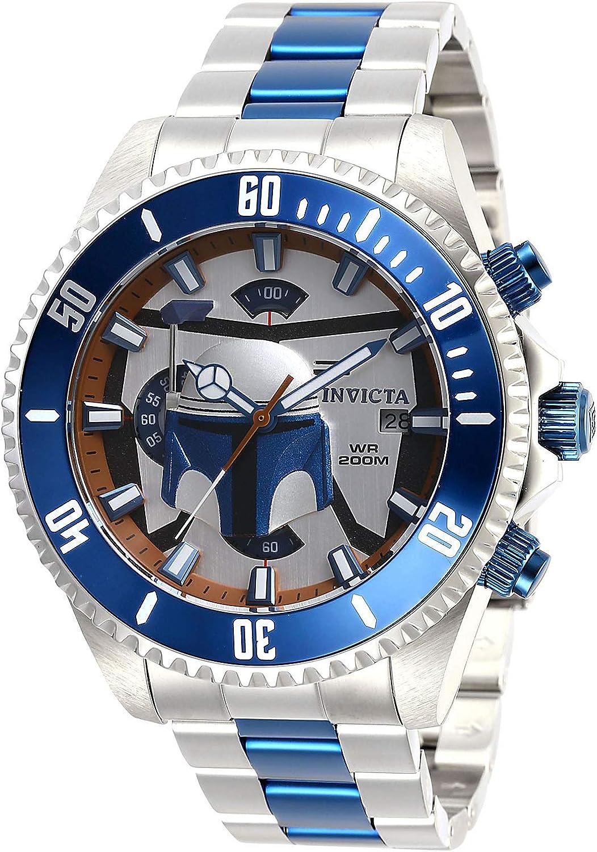 Invicta Men s Star Wars Quartz Watch with Stainless Steel Strap, Silver, 22 Model 28059