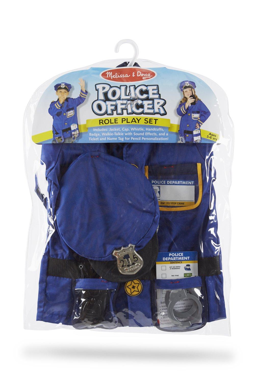 amazon com melissa u0026 doug police officer role play costume set