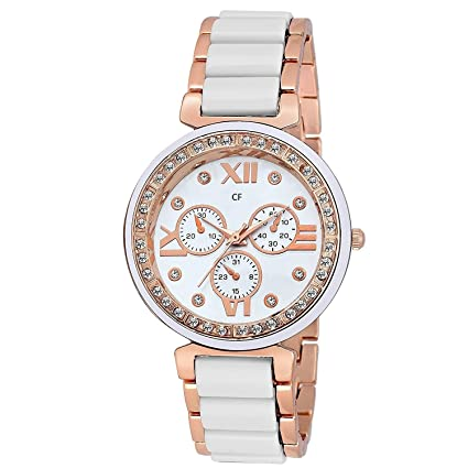 Capture fashion Diamond Golden Stainless Steel Analogue Multicolour Dial Men's Watch (CP-126)
