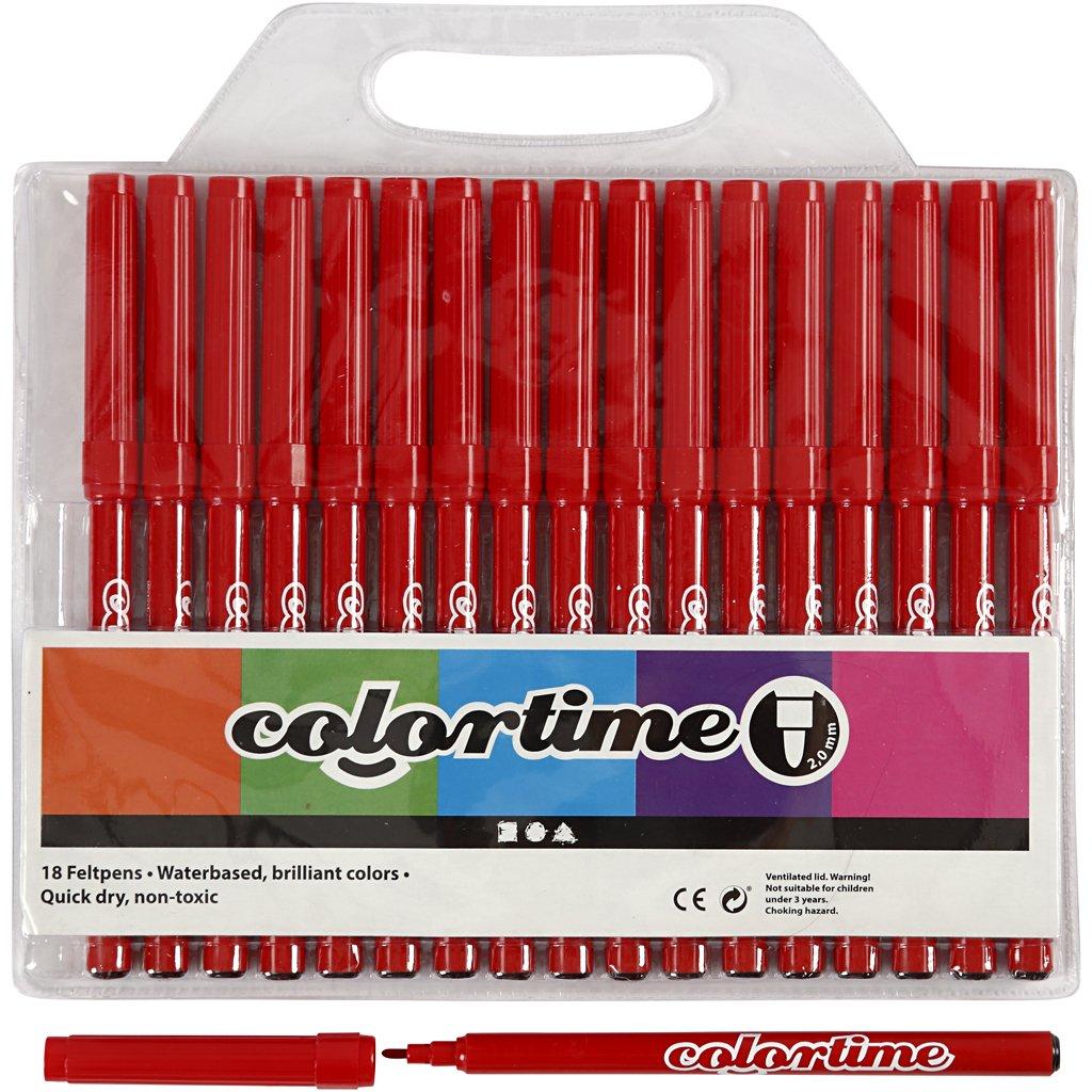 Colore pennarello Tempo Nero 2 linea mm 18 pz