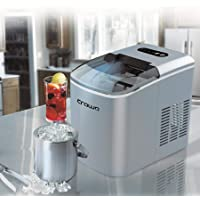 Crownline Instant 12kg/24Hours Counter Top Compact Ice Maker Machine, IM-162, Silver, 1 Year Brand Warranty