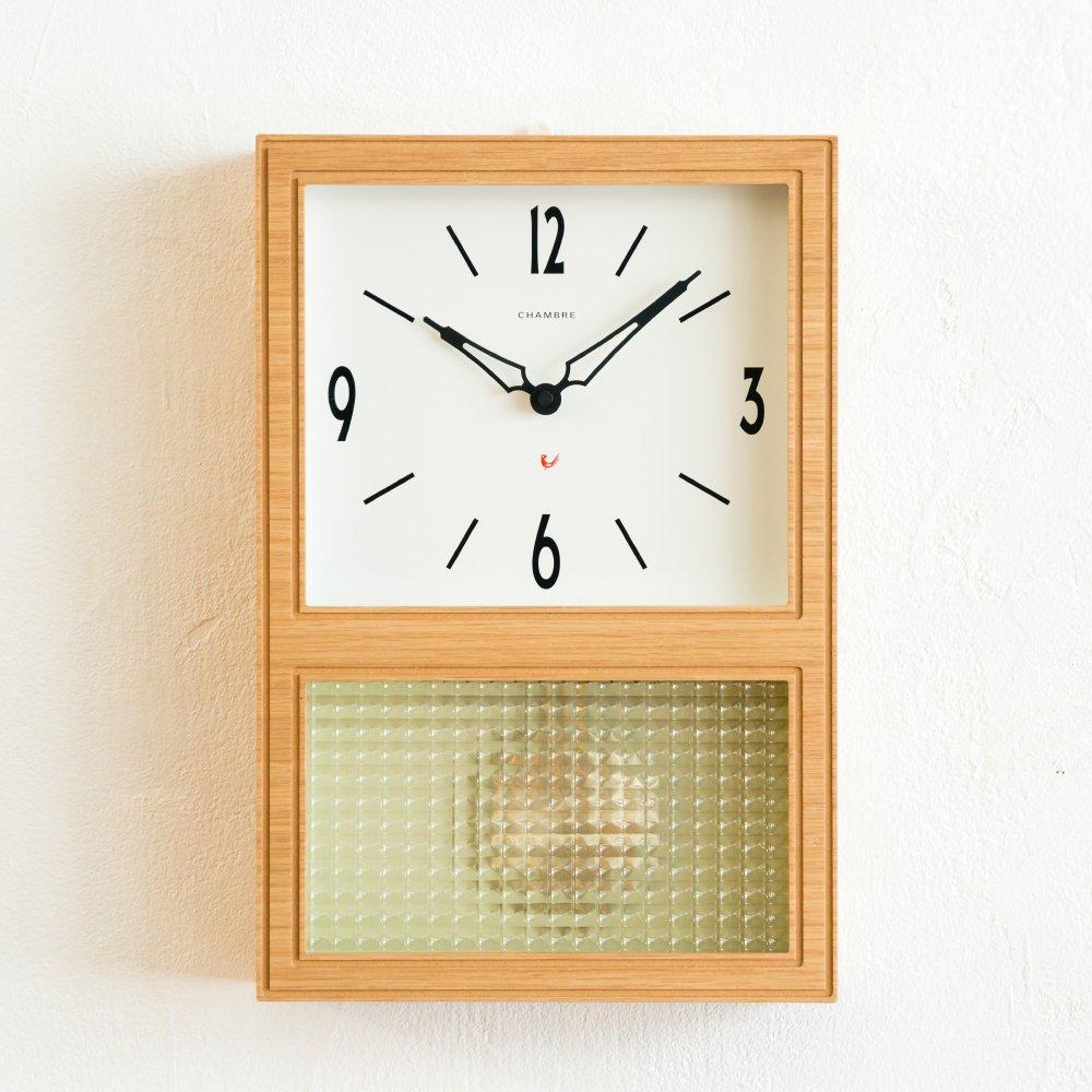 Chambre(シャンブル) 壁掛け時計 PENDULUM CLOCK OAK B00NSH4KHG