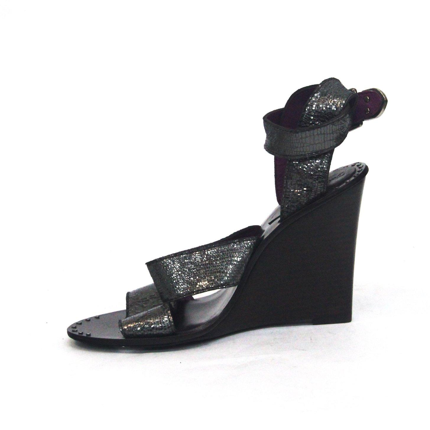 Juicy Couture Zehenöffnung Keilabsatz Sandale Sandale Sandale UK Größe 4 Grau-steel 91a23e