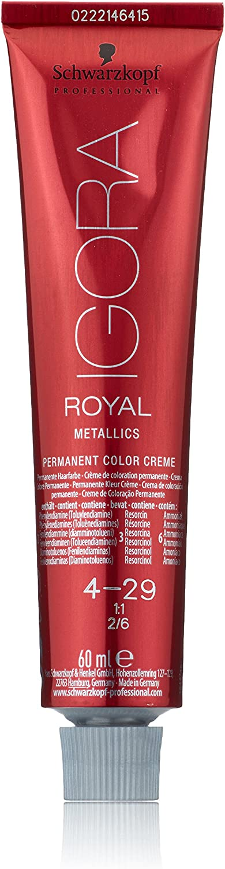 Schwarzkopf Igora Royal Tinte Permanente, Tono 4-29 - 60 ml