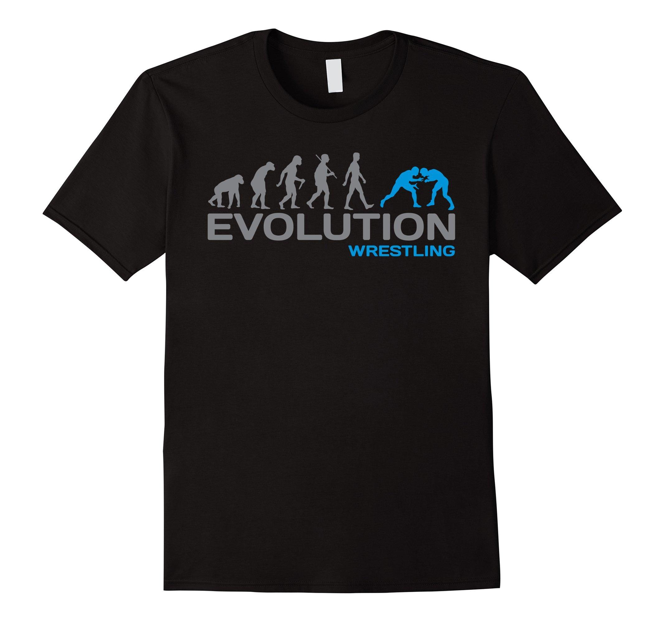 Mens Evolution WRESTLING wrestle wrestler combat sport t-shirt Medium Black by davesdisco