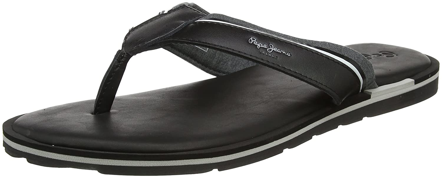 a2712b7620d5 Pepe Jeans Men s Barrel Fabric Flip Flops  Amazon.co.uk  Shoes   Bags