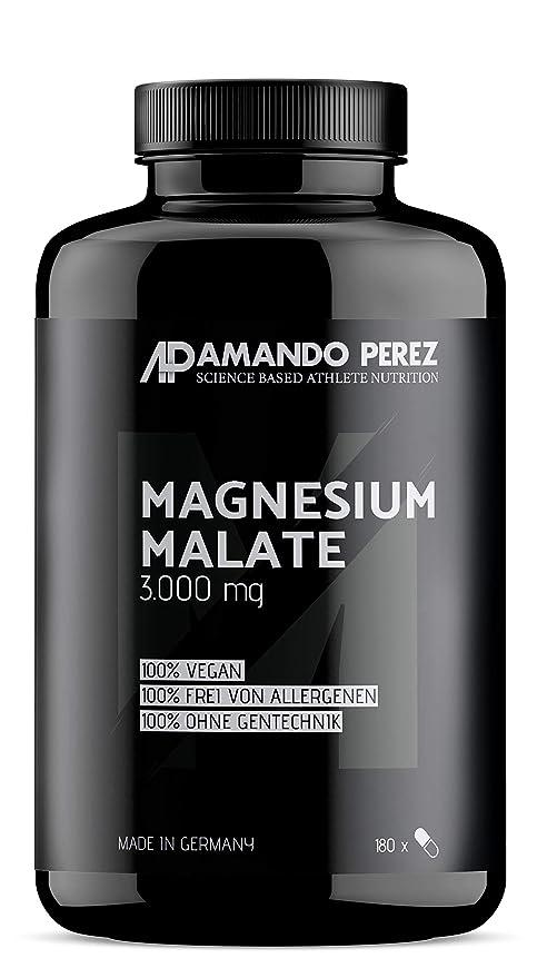 Magnesio Malate 3000 por dosis - 180 tabletas veganas