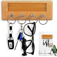 Key Holder for wall, Key Organizer wall Mounted with 4 Guitar Plug Keychains,Retro Elegant Key Hanger for Entryway, Door…