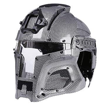 YVSoo WST Casco Táctico Protectora Máscara Casco Militar para Airsoft CS Juego Paintball (A): Amazon.es: Deportes y aire libre