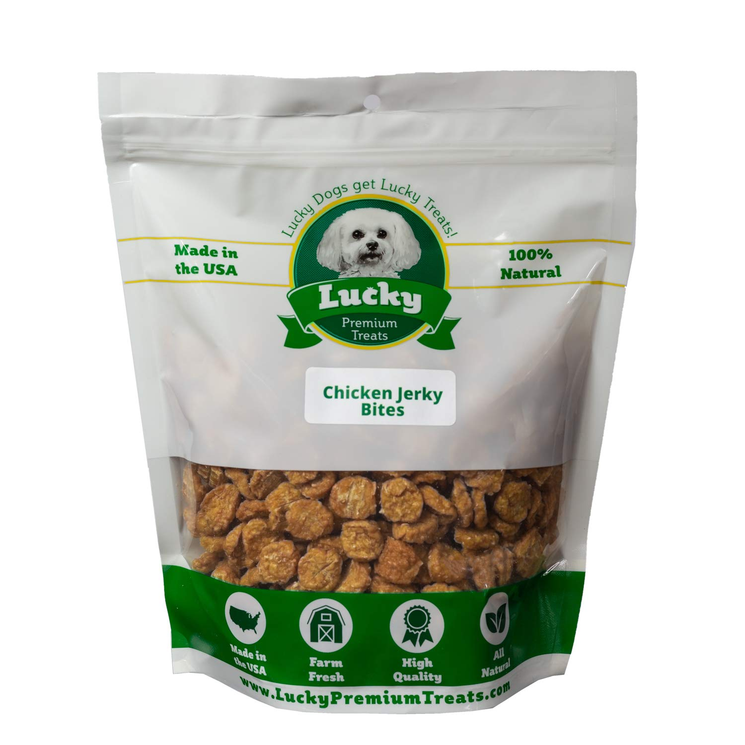 Lucky Premium Treats All Natural Chicken Jerky Bite Dog Treats