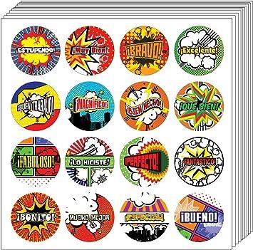 Spanish Awesome Work Reward Praise Stickers
