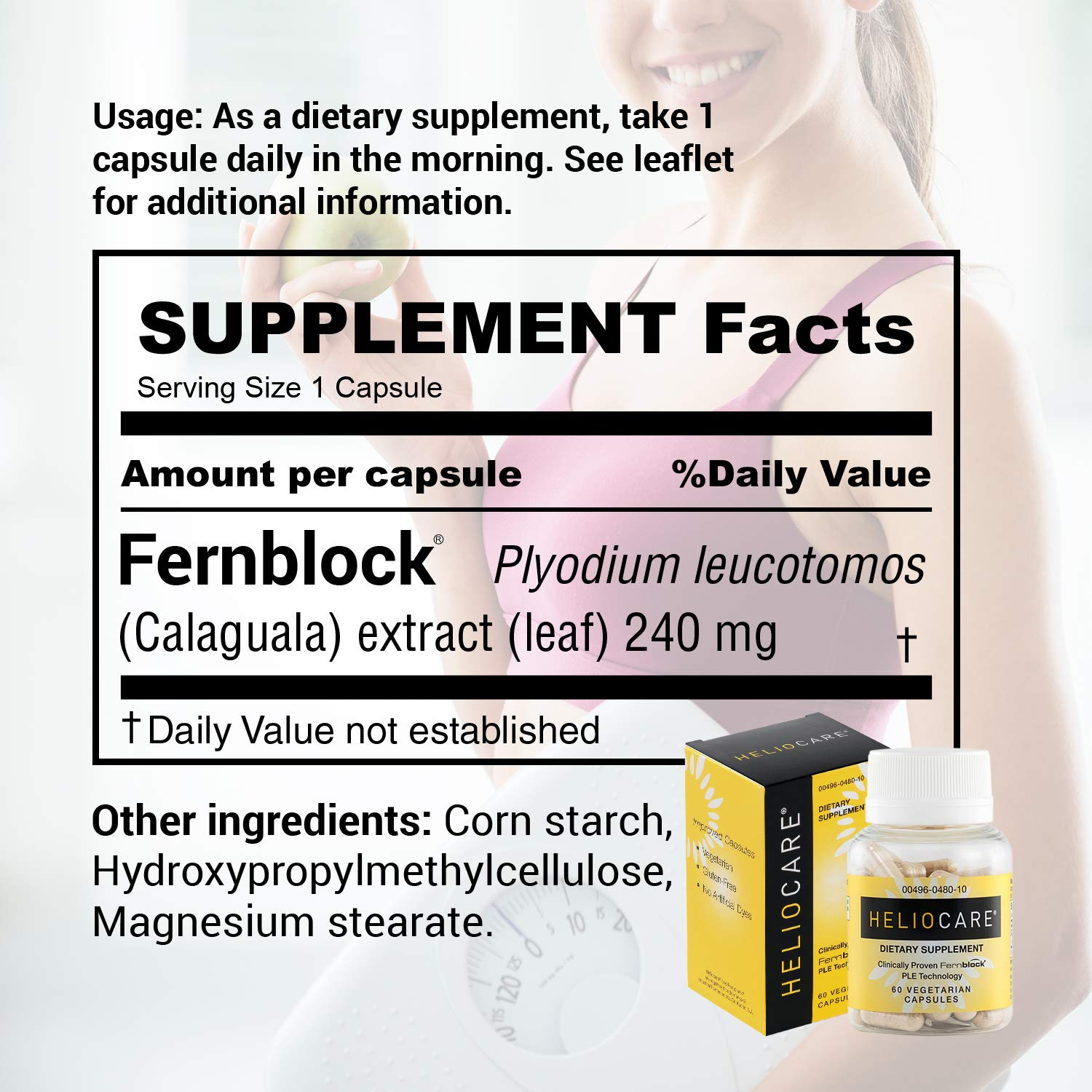 Amazon.com: Heliocare Skin Care Dietary Supplement: 240 mg ...