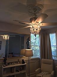 Amazon Com Pull Chain Crystal Bead Candelabra Ceiling Fan
