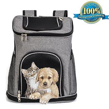 Blue-white L Portable Dog Cat Puppy Double Shoulder Bag Backpack Travel Outdoor Pet Carrier
