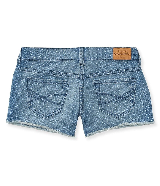 Aeropostale Womens Polka Dot Shorty Casual Denim Shorts